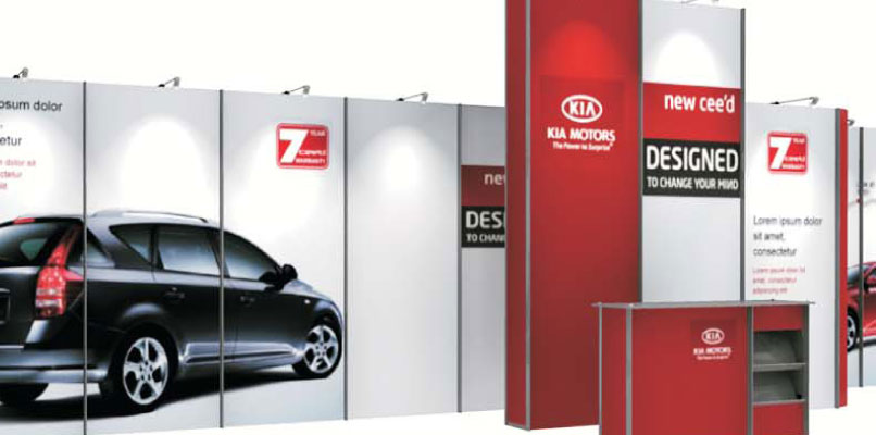Event/roadshow display for Melville and Kia UK